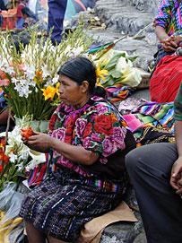 Auf einem Marktplatz in Guatemala