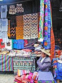 Marktstand in Guatemala